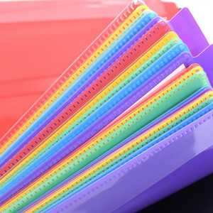 Image 5 - Multi layer color waterproof music folder file plastic data bag Filing Products document bag A4 music folder 20 pages