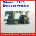 Envío gratis 100% original placa base placa base placa base para samsung galaxy s4 mini i9195 100% trabajo de la versión europea del