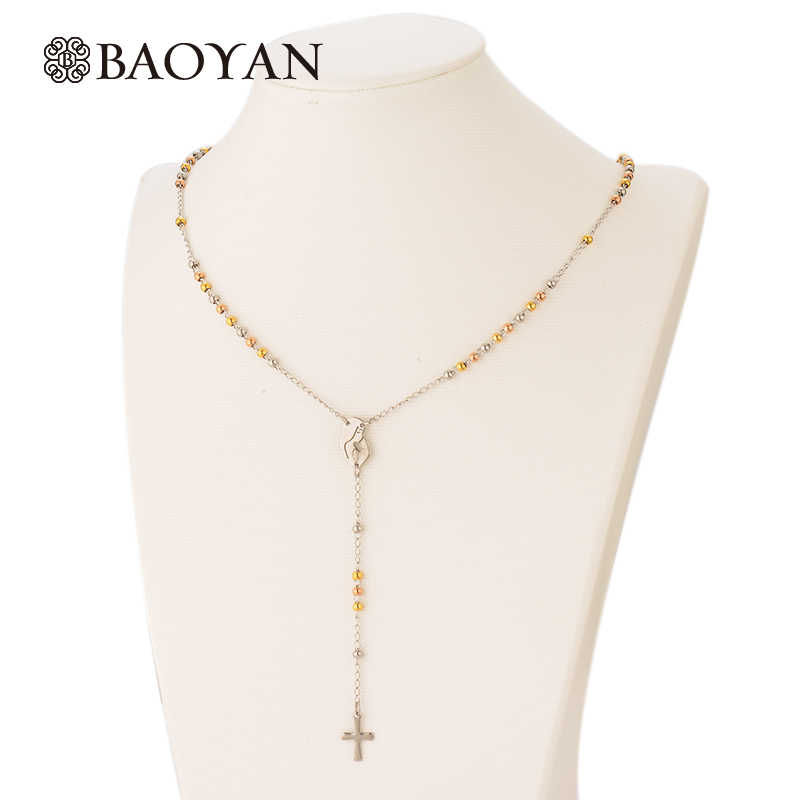 2016 Hot Sale Gold & Silver Bead Necklaces & Pendants For Women 316L Stainless Steel Women Necklace Fashion Jewelry Chain A5