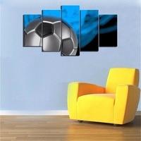 Canvas Art Voetbal Sport Thema Canvas Wall Art voor jongens Kamer Babykamer Muur Decor Schilderijen Kinderkamer Jongens Gift
