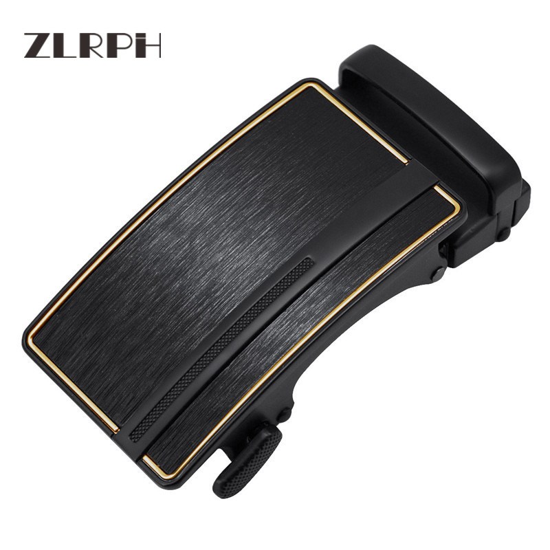 ZLRPH  Men's Belt Automatic Buckling And Drawing Wire Yonghei Spring Buckle