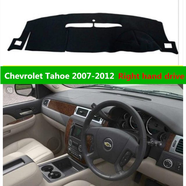 Taijs Car Dashboard Cover For Chevrolet Tahoe 2007 2017 Right Hand Drive Auto Rug Mat 07 12