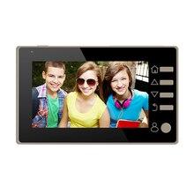 4.3 дюймовый цветной экран без нарушения цифровой электрический дверной viewer голосовые цинковый сплав домофон ночного видения функции дверной Звонок