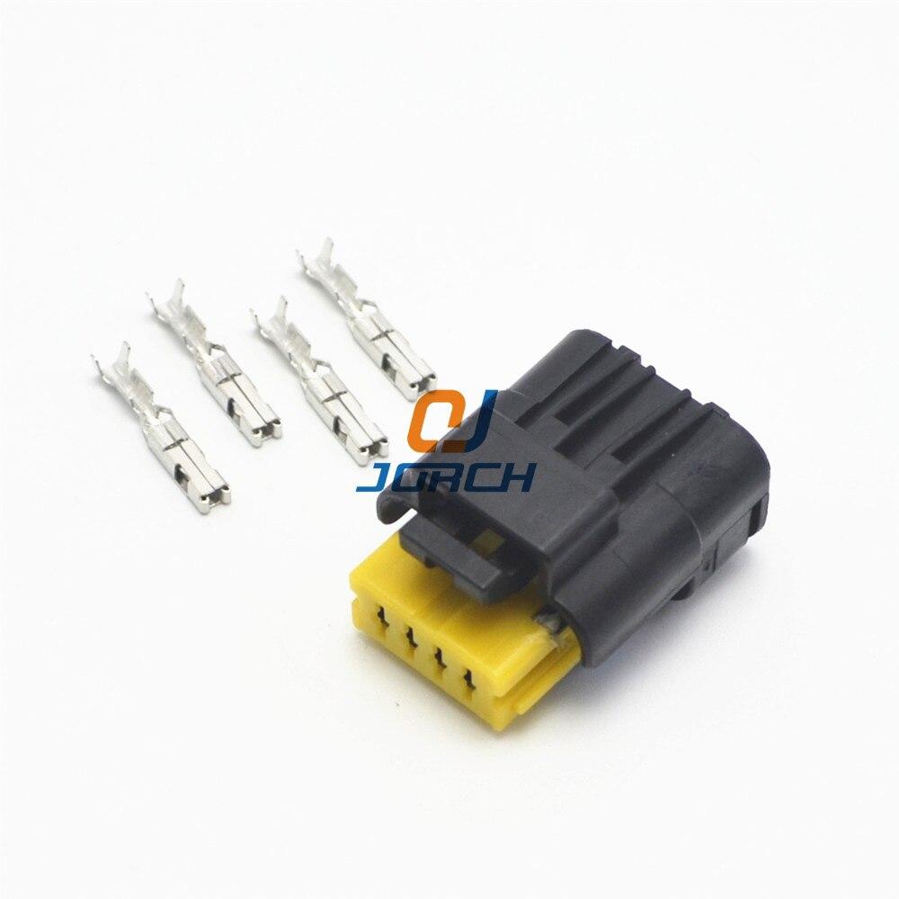 US $6.85 |5sets kits 4 pin 1.5mm waterproof FCI plug 211 PC042S4021 on