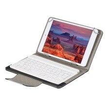 Беспроводная Bluetooth клавиатура для планшета, чехол подставка из искусственной кожи для Pad 7, 8, 9, 10 дюймов для IOS, Android, Windows