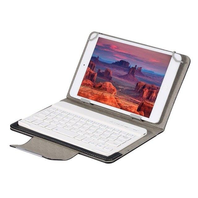Teclado Bluetooth inalámbrico para tableta PU Funda de cuero funda soporte + OTG + pluma para Pad 7 8 pulgadas 9 10 pulgadas para IOS, Android y Windows
