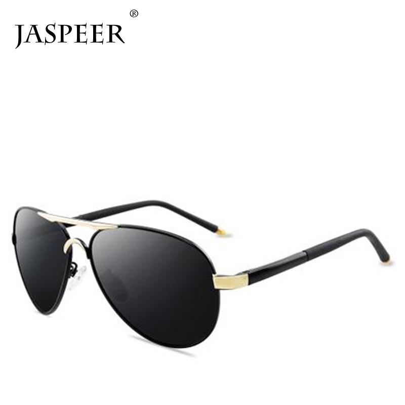JASPEER Vintage Retro Brand Designer Men Polarized Sunglasses Classic Women Shades Sun glasses Driving Black Lens UV400 Eyewear