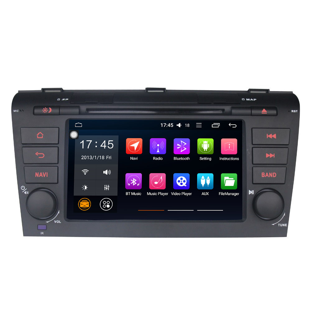 New 7 quot Double Din 4GB 32GB Support Wifi Steering Wheel Control GPS Navi Wifi Built in DSP Carplay For Mazda 3 Multimedia Player in Car Multimedia Player from Automobiles amp Motorcycles