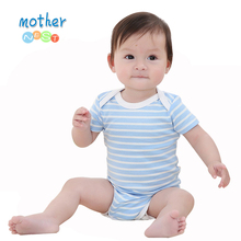 2018 Baby Rompers Infant Girl Newborn Baby Clothes Cute Cartoon Short Sleeves Rompers Suits Coverall Baby Clothng cheap Mother nest Covered Button Unisex Cotton Fits true to size take your normal size O-Neck DH16109 Broadcloth 100 Cotton