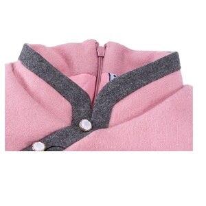 Image 5 - 중국 아기 소녀 드레스 두꺼운 누비 이불 소녀 재킷 치 파오 드레스 어린이 Cheongsam 코트 복장 Qipao Outwear 블라우스 탑스
