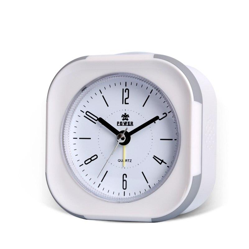 Тихий будильник, Повтор, двойной светодиодный ночник, музыкальная сигнализация с 8 аккордами, ОК для пробуждения, легко установить настольные часы, питание от аккумулятора.