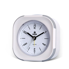 Silent Alarm Clock ,Snooze ,Double LED Night Light, 8 Chord Music Alarm ,Ok to Wake,Easy to Set Desk Clocks,Battery Powered.
