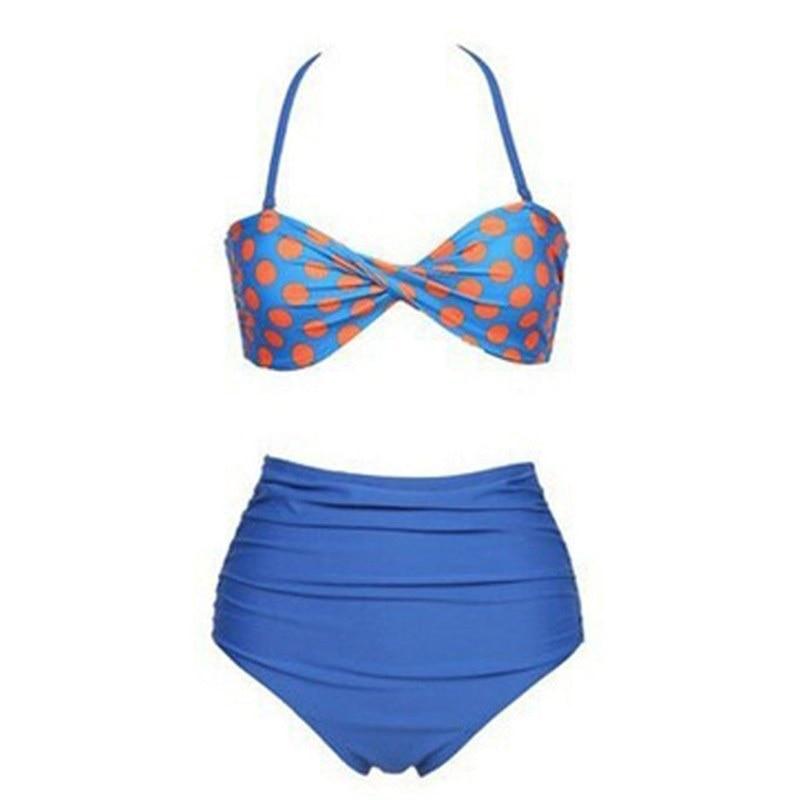 New Summer Women Swimsuit Bandage Hanging Neck Sexy Beach Bathing Suit 2 Piece Set Maillot De Bain Femme High Waist Swimwear