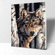 The Wolf number Oil Painting Wall Pictures For Living Room Canvas animal Digital painting And Prints