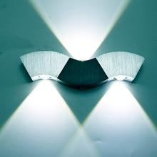 Светодиодный настенный светильник, 3 Вт, 9 Вт, алюминиевые Бра в форме волны, потолочный светильник для зала, спальни, коридора, комнаты отдыха, ванной комнаты, 110 В, 220 В, JQ