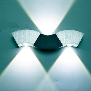 Image 1 - Led Wall Lamp Light 3W 9W Aluminum Sconces Wave Shape Ceiling For Hall Bedroom Corridor Restroom Bathroom 110V 220V JQ