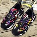 2017 Новое Лето Женщины Мода Повседневная Обувь для Дыхания Воздух Сетки Панк Стиль Trend Плоские Туфли Zapatos Mujer Zapatillas Дикие Обувь