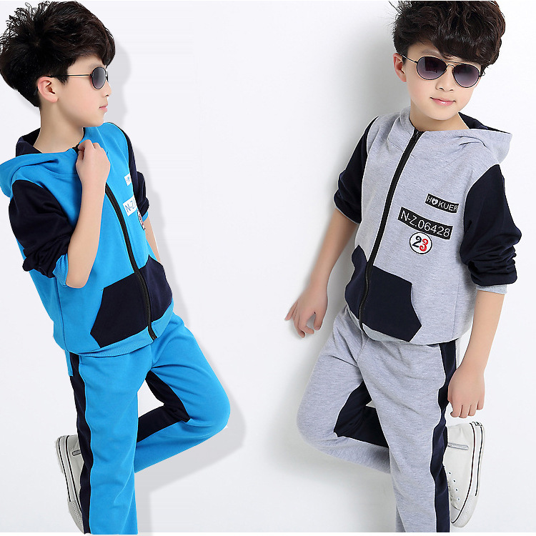 Spring Autumn Baby Boys Clothes Sets hoodies & pant 2 pcs long sleeve kid boy tracksuit  Sport suit clothing set 5-16 Y 2pcs set baby clothes set boy