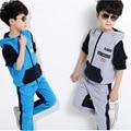 Spring Autumn Baby Boys Clothes Sets hoodies & pant 2 pcs long sleeve kid boy tracksuit  Sport suit clothing set 5-16 Y