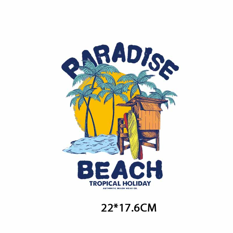 Iron on Letters Patches Applications for Clothes Appliques Heat Transfer Vinyl Palm Tree Patch Stickers Stripes on Clothes DIY in Patches from Home Garden