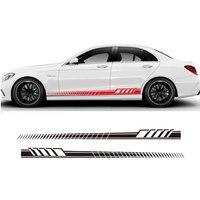 Đổi mới kế xe nhãn dán Side Váy Decal Sticker Cơ Vòng Hoa cho Mercedes Benz W205 Coupe C Class C63 AMG RT-852