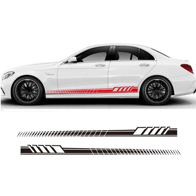 Inovar Estilo Do Carro Adesivo Lateral Saia Decalque Adesivo Guirlanda  Corpo Para Mercedes Benz C63 AMG