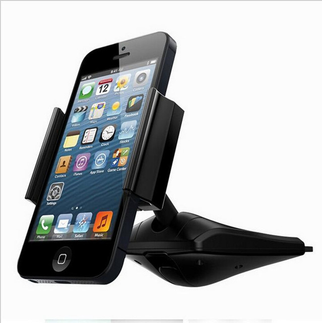 universal car cd stand slot mount for smartphones cell phone holder