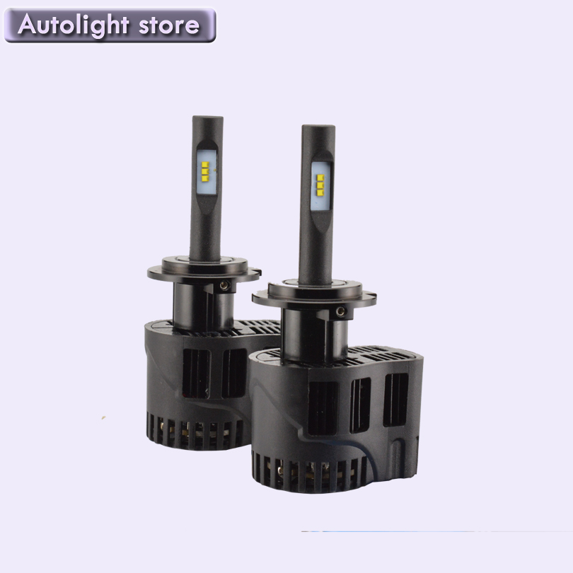 ФОТО Factory cheap price 50W 6400LM Single Beam Kit Car LED Headlight Bulb H7 all in one for 12V 24V led kits