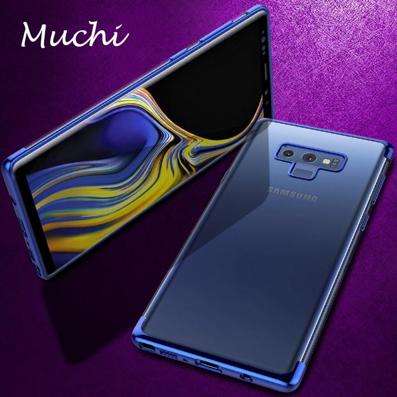 MUCHI For Samsung Galaxy Note 9 Case Luxury Laser Plating Soft Clear Ba