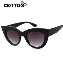 Rose Gold Cat Eye Sunglasses For Women Pink Mirror Shades Female Sun Glasses Black White Coating Cateye Aviation Oculos 2018