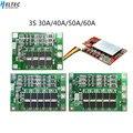 18650 BMS 3S 30A/40A/50A/60A BMS Board mit Balance 11 1 V 12 6 V 3 7 V LI ION Batterie Schutz Bord-in Batteriezubehörteile aus Verbraucherelektronik bei