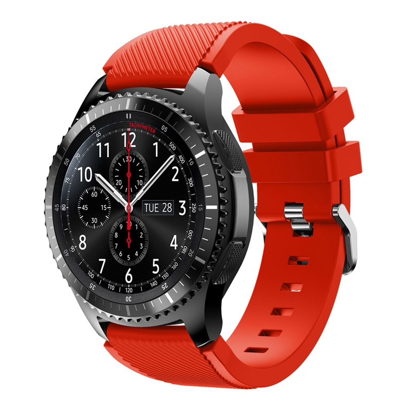 Excellent Quality Rubber Wrist Strap for Samsung Gear S3 Frontier Silicone Watch Band Bracelet Band 22mm dropship #01