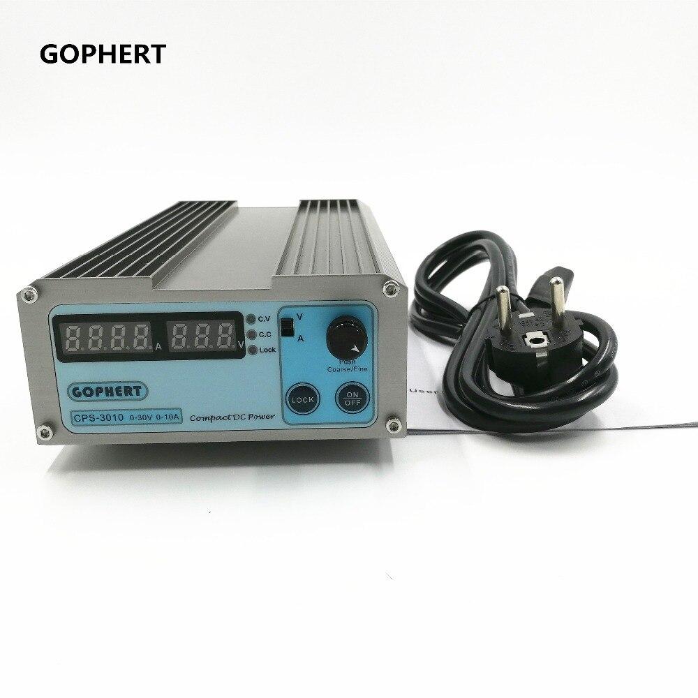 220 V/110 V CPS-3010 300 W 0-30 V/0-10A, alimentation cc réglable numérique compacte gassault