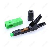 ZHWCOMM 100pcs High Quality SC APC Single Mode Fiber Optic Quick Fast Connector FTTH Cold Connector Free shipping
