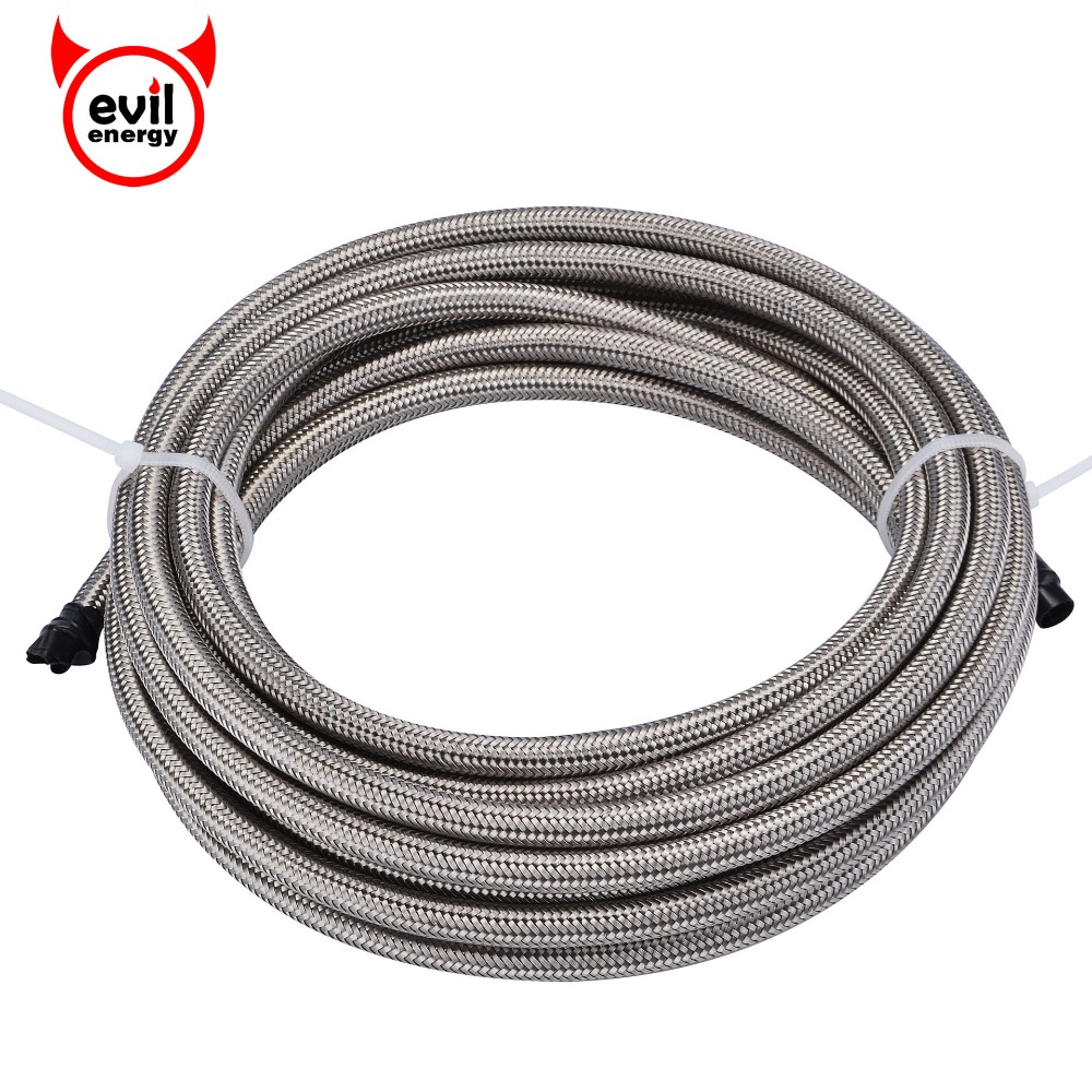 evil energy 5M AN3/4/6/10 Stainless Steel Silver Braided PTFE Brake Hose Teflon Line Racing Hose Fuel Oil Line Oil Cooler Hose спрей тефлоновый liquimoly pro line ptfe pulver spray 0 4 л page 4
