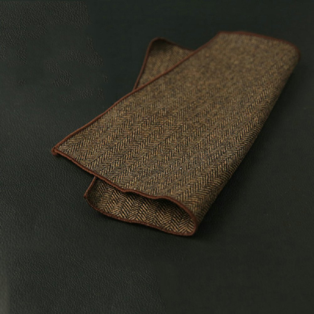 Mantieqingway Mens Wool Handkerchief Solid Color Pocket Square Pocket Towel For Suits Wedding Party Hankies For Ladies Towel