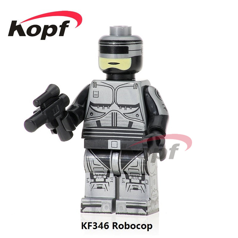 50Pcs KF346 Super Heroes Robocop Ghost Of Sparta Kratos Ultimate Black Friday Prison Building Blocks Education Kids Gift Toys
