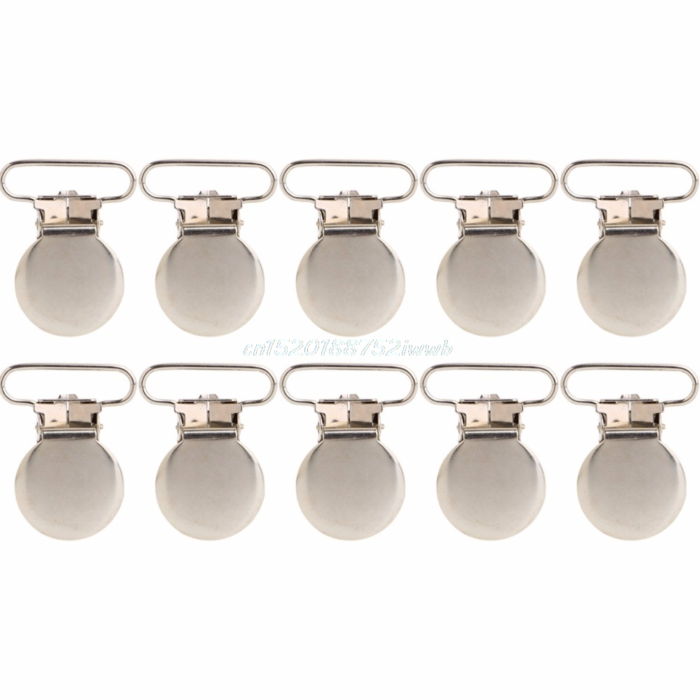 10Pcs Baby Infant Metal Clips Pacifier Holders Shape Alloy Suspender Hook #T026#