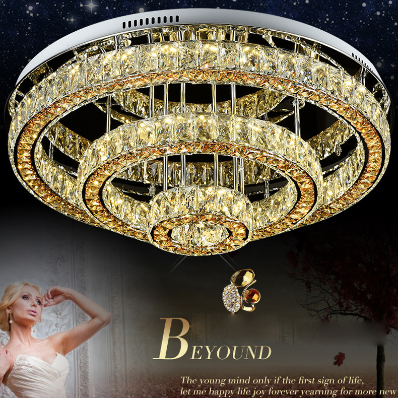 Morden módní křišťálový LED lustr luxusní krycí stropní lampa pro hotelovou ložnici Crystal Luster Light