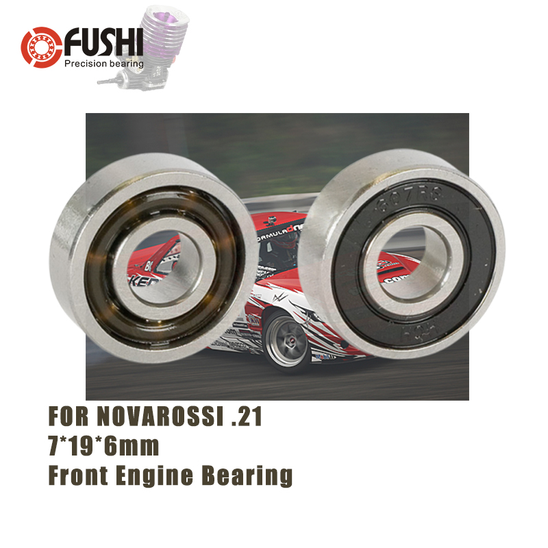 MR607EC 2RS 7*19*6mm Front Engine Ceramic Ball Bearing 1PC T9H Double Sealed ABEC 3 Bearings For NOVAROSSI .21 OFF ROAD 607RS RC|Bearings| |  - title=