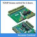 Rfid porta sistema de controle de acesso RFID tcp / ip duas portas de placa de placa de controle tcp / ip + Software livre inglês T01