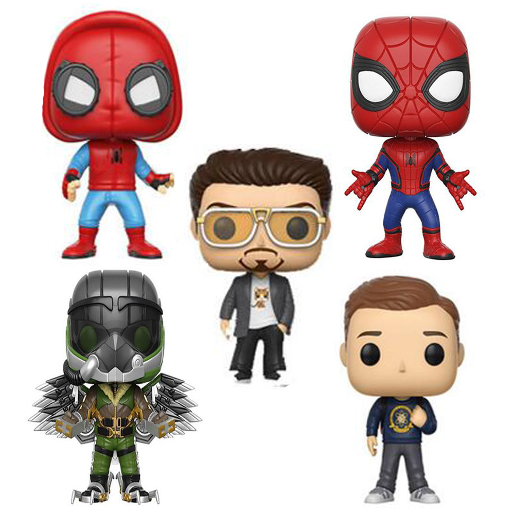 Avengers Spiderman Super Hero Spider-Man: Homecoming 10cm Figure Collection Model Toys without Retail Box
