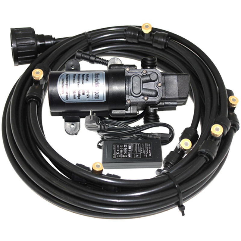 A071 12V 60W 5L min Micro Greenhouse Self Priming Sprayer Misting System Pump With 12m 40feet