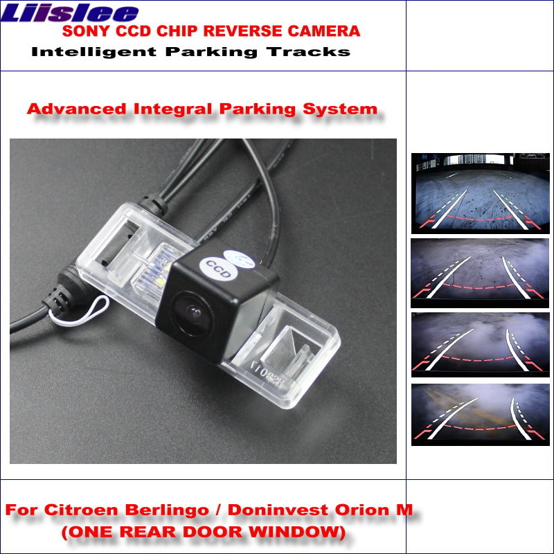 Liislee HD CCD SONY Rear Camera For Citroen Berlingo Doninvest Orion M Intelligent Parking Tracks Reverse