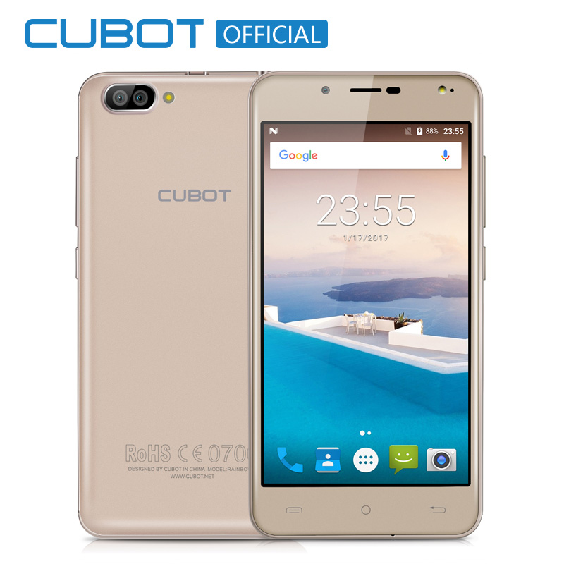 Arco iris 2 5.0 pulgadas hd mtk6580a cubot quad core smartphone 1 gb RAM 16 GB R