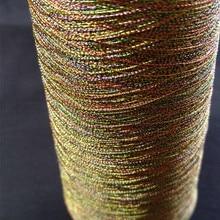 100 грамм огромный конус многоцветная металлическая нить для вышивки для домашнего машинного шитья или вышивки крестом