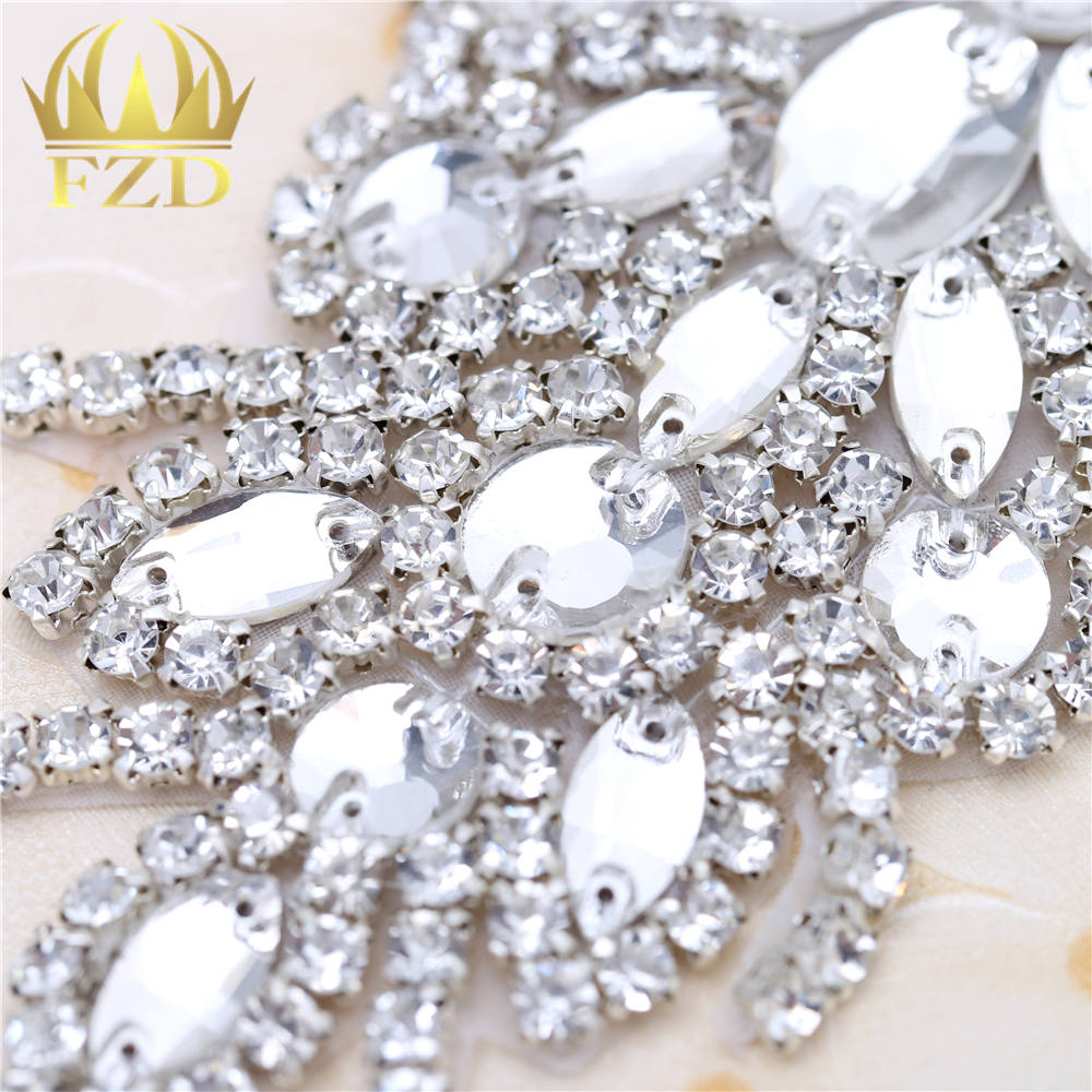 (30pieces) Wholesale Hotfix Crystal Stones and Crystals Rhinestone Sequin  Applique for Garment Dresses Wedding Decorations Patch-in Rhinestones from  Home ... 02b5f0ef592e