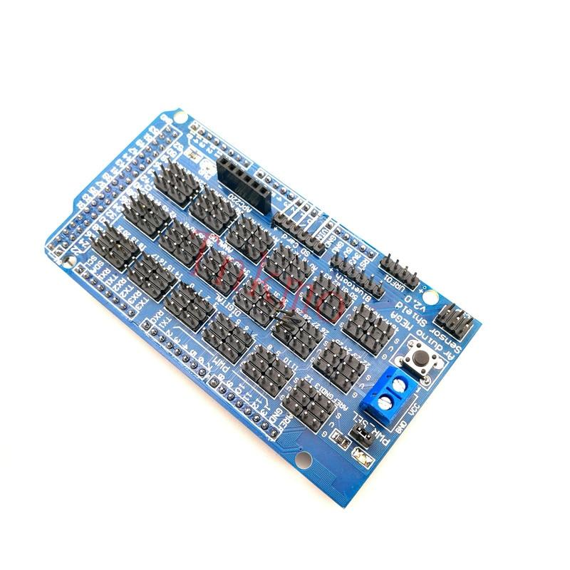 MEGA Sensor Shield V1.0 V2.0 dedicated sensor expansion board for arduino mega 2560 r3 Sensor Shield uno shield ethernet shield w5100 r3 uno mega 2560 1280 328 unr r3 only w5100 development board for arduino