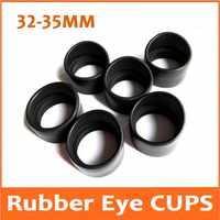 2 stücke Auge Wachen Stero Mikroskop Okular Auge Stück 32-35mm Gummi Auge Tassen Gummiaugenmuscheln für Stereo Biologische mikroskop Teleskop