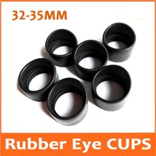 2PCS 34mm Small Horn Rubber Eye Guards Cylinder Shield Cups for Biological Stereo Microscope Telescope Monocular Binoculars